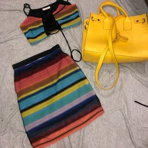 Forever 21 two piece crochet festival outfit